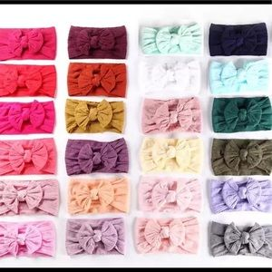 Other - 4 for $25!!! Cable Knit soft nylon baby headbands